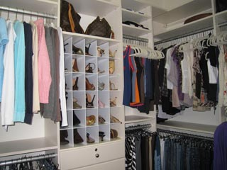 Decluttered Closet North Naples Florida