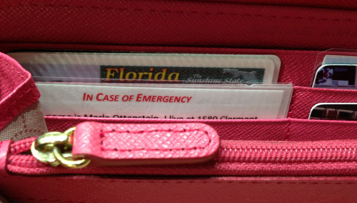 HAVING AN IN CASE OF EMERGENCY CARD (ICE) COULD SAVE YOUR LIFE